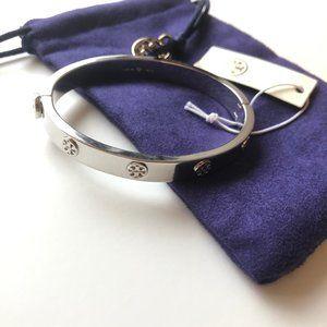 Tory Burch Silver Miller Stud Hinge Bracelet